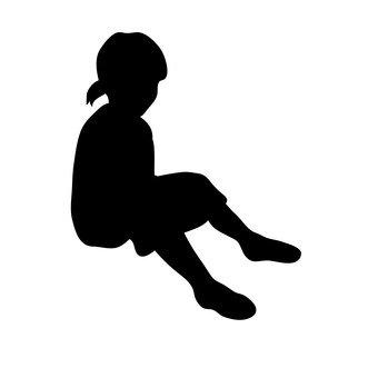 앉아있는 여자