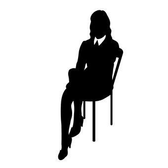 人們職業女性坐