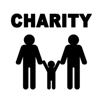 Charity parent and child