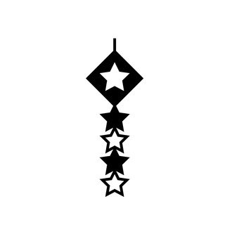A star decoration